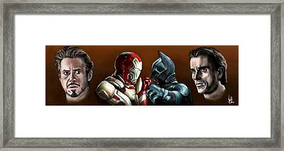 Stark Industries Vs Wayne Enterprises Framed Print by Vinny John Usuriello