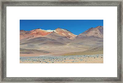 Stark Mountain Landscape In The High Framed Print by Panoramic Images