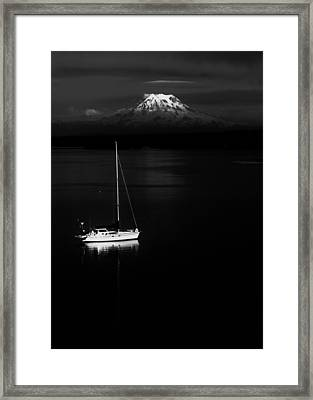 Stark Sail Framed Print by Benjamin Yeager