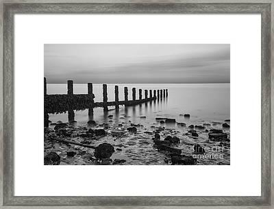 Stark Seascape Framed Print