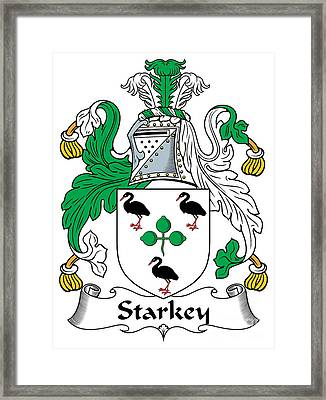 Starkey Coat Of Arms Irish Framed Print