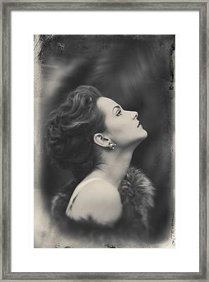 Starlette Noir Framed Print by Alexander Kuzmin