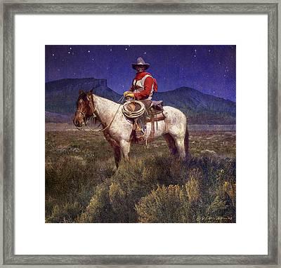 Starlight Cowboy Durango Framed Print by R christopher Vest