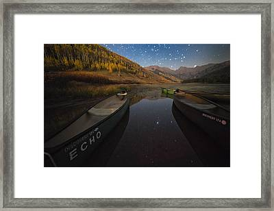 Starlight Discovery At Piney Lake Framed Print
