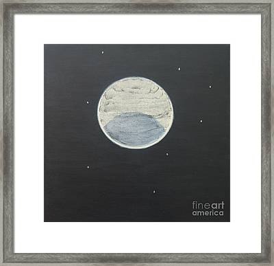 Framed Print featuring the painting Starlight by Mini Arora