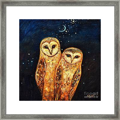 Starlight Owls Framed Print