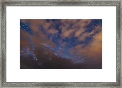 Framed Print featuring the photograph Starlight Skyscape by Marty Saccone