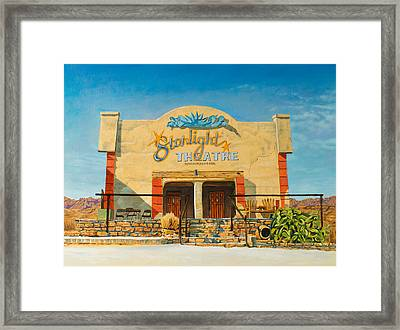Starlight Theatre Terlingua Framed Print by Karl Melton