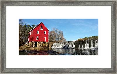 Starr's Mill In Senioa Georgia Framed Print by Donna Brown