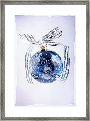 Christmas Ornament With Stars Framed Print by Vizual Studio