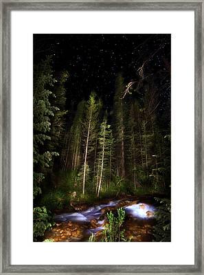 Starry Creek Framed Print