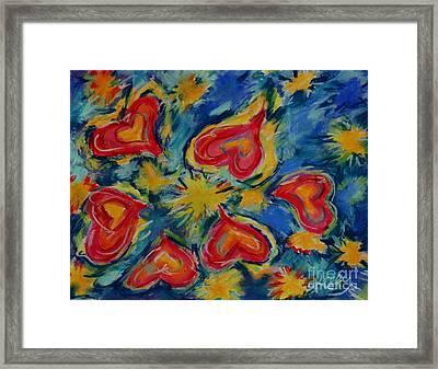Starry Hearts Framed Print by Kelly Athena