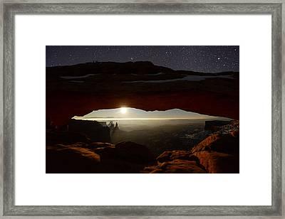 Starry Mesa Arch Framed Print