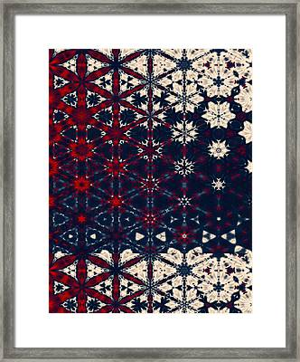Starry Night Abstract Framed Print