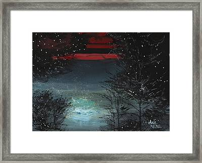 Starry Night Framed Print by Anil Nene