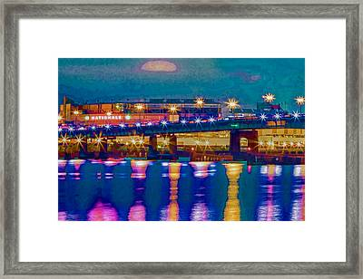 Starry Night At Nationals Park Framed Print
