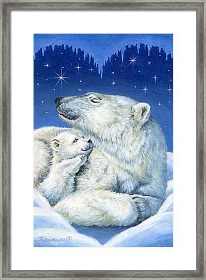 Starry Night Bears Framed Print by Richard De Wolfe