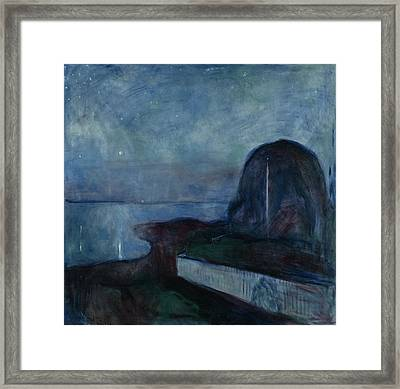 Starry Night Edvard Munch, Norwegian Framed Print by Litz Collection