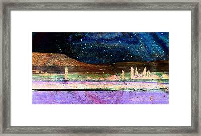 Starry Night Framed Print by Ernestine Manowarda