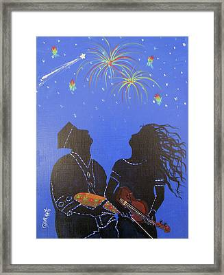 Starry Night Framed Print by Gloria E Barreto-Rodriguez