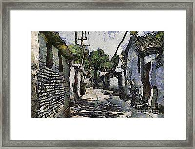 Starry Night Hutongs Framed Print