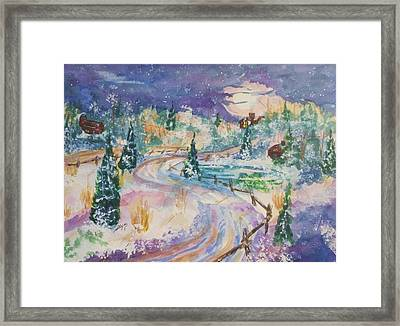 Starry Night In A Winter Wonderland Framed Print
