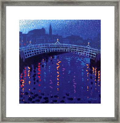 Starry Night In Dublin Framed Print