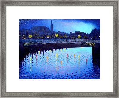 Starry Night In Dublin Vi Framed Print by John  Nolan
