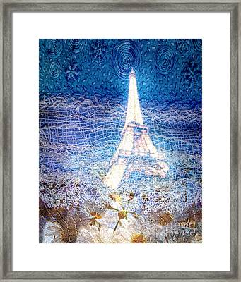 Starry Night In Paris Framed Print by Mo T