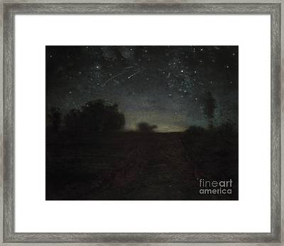 Starry Night Framed Print by Jean-Francois Millet