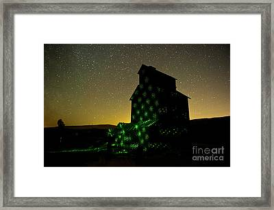 Starry Night Light Painting. Framed Print by Jackie Follett