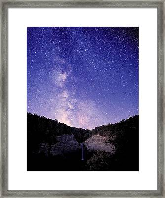 Starry Night Of Taughannock Waterfalls Framed Print