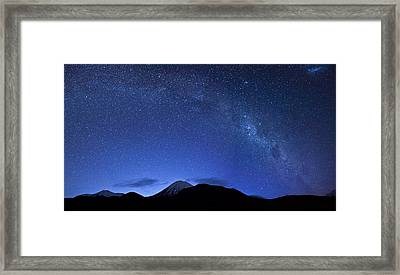 Starry Night Over Mount Ngauruhoe Framed Print