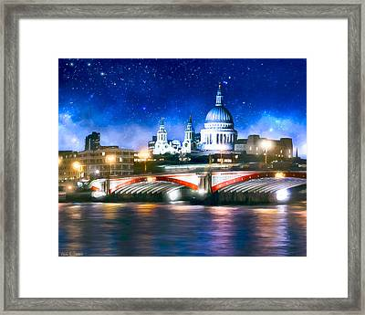 Starry Night Over The Thames Framed Print