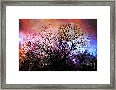 Framed Print featuring the photograph Starry Night by Sylvia Cook