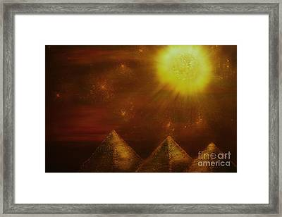 Starry Pyramid Night-original Sold-buy Giclee Print Nr 34 Of Limited Edition Of 40 Prints  Framed Print