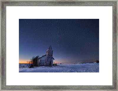 Starry Winter Night Framed Print
