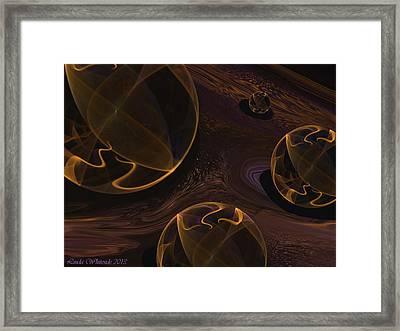 Framed Print featuring the digital art Starry Worlds by Linda Whiteside
