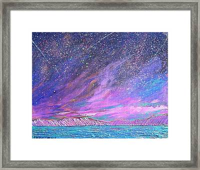 Starry.....starry Night Framed Print by J Michael Orr