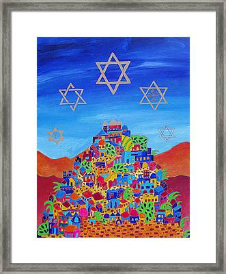 Stars Above Jerusalem Framed Print by Dawnstarstudios