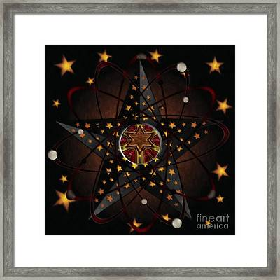 Stars And Atoms Abstract Framed Print