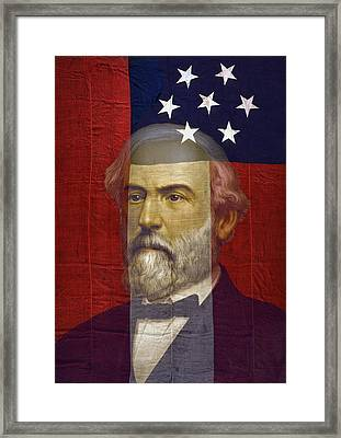 Stars And Bars General Lee Framed Print by Daniel Hagerman