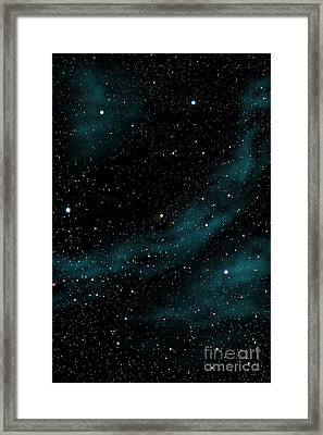 Stars And Cloud Framed Print by Atiketta Sangasaeng