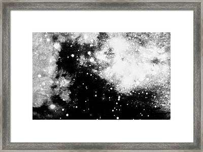 Stars And Cloud-like Forms In A Night Sky Framed Print by Duane Michals