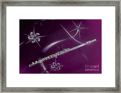 Stars And Flute Music Instrument Photograph In Color 3305.02 Framed Print