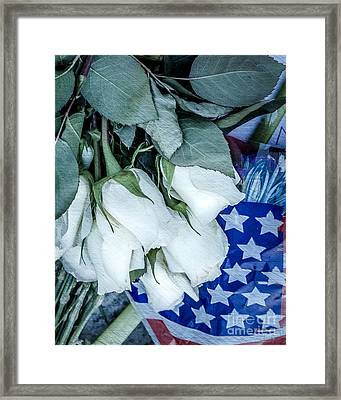 Stars And Roses Forever Framed Print by Susan Cole Kelly Impressions