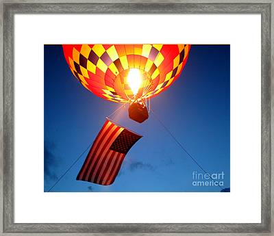 Stars And Stripes Glow Framed Print by Paul Anderson