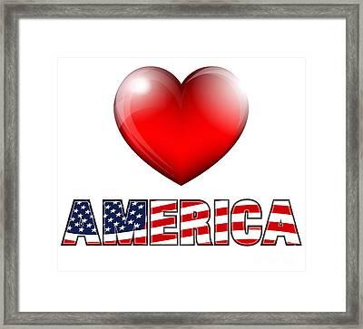 Love America Framed Print