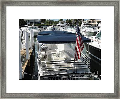 Framed Print featuring the photograph Stars And Stripes by Janette Boyd