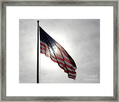 Stars And Stripes Framed Print by Kenny Glotfelty